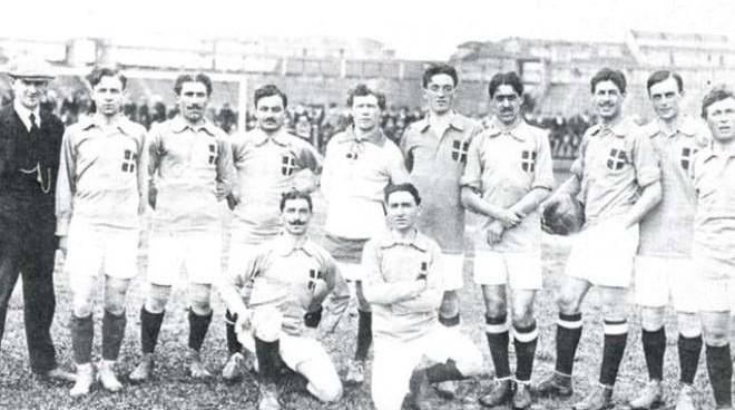 Quel primo Italia-Belgio del 1913 dominato dai vercellesi