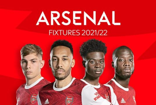 Arsenal Premier League 2021/22 fixtures and schedule Revealed