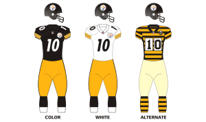 Steelers colors and jersey
