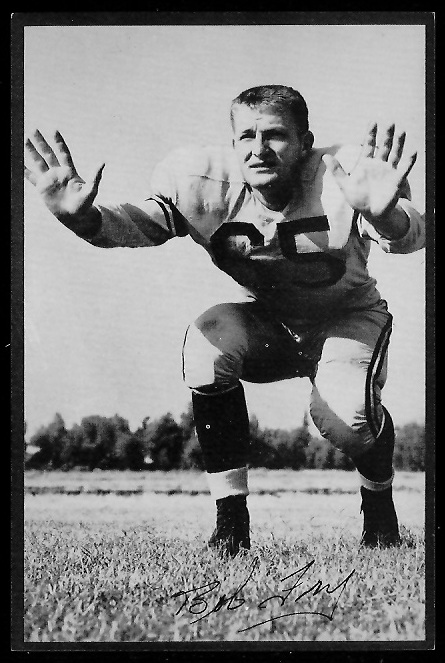 Bob Fry 1953 Rams Team Issue 9 Vintage Football Card Gallery