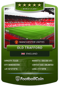 FootballCoin Stadium Collectible Card