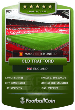 FootballCoin Stadium Collectible Card