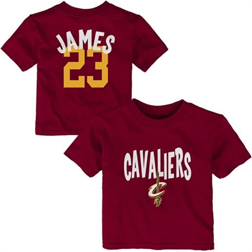 pretty nice 097a3 d61c1 Cleveland Cavaliers, Lebron James Baby Tee, Creeper, Jersey ...