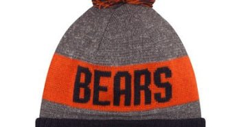 kids nfl pom hats, youth nfl pom hats, kids chicago bears pom hat, youth knit nfl hats with yarn ball