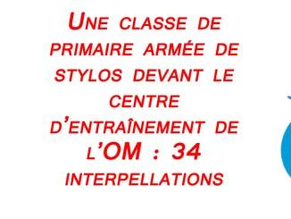 Football France - Une classe de primaire devant la Commanderie, 34 interpellations