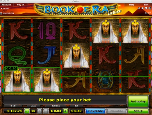 Playing the Book of Ra