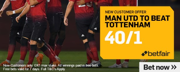 Man Utd V Spurs Betting