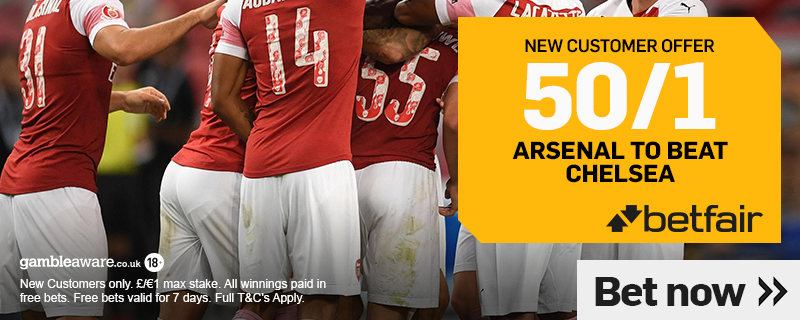 arsenal enhanced odds this weekend