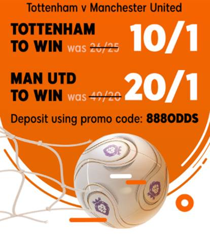 TOT v MUN Enhanced Odds Offer