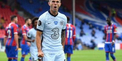 Christian Pulisic in Chelsea action on Matchweek 34 of the Premier League