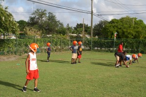 "Here FYFL Pee wee/11U hurricanes learn about positions and assignments ""Every kid learns every position Said Coach"""