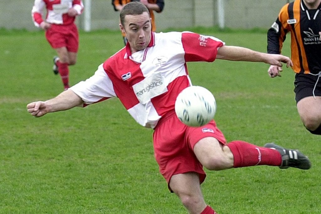 Bracknell Town striking legend Justin Day.