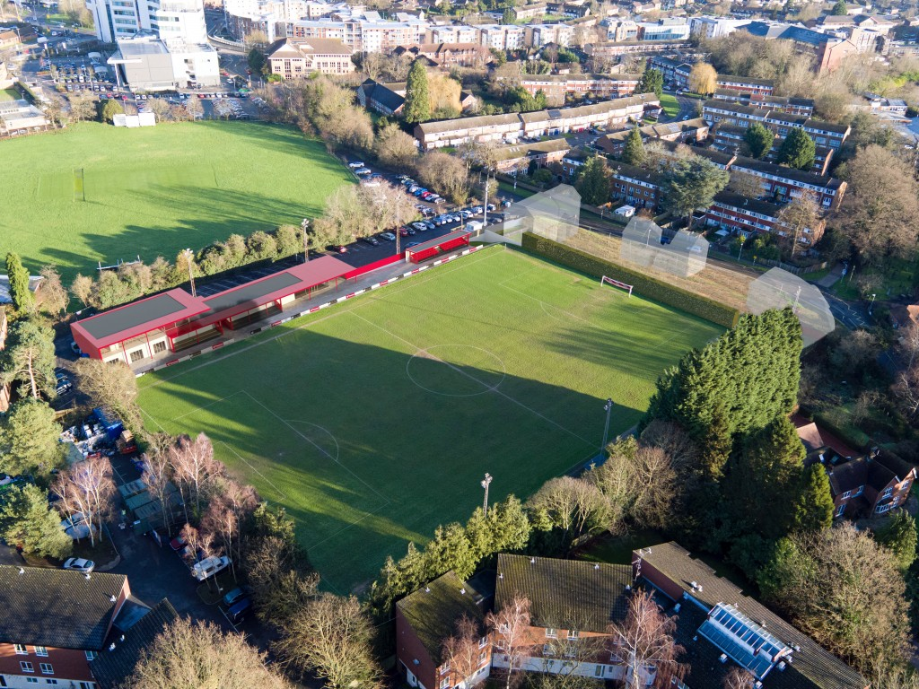 An aerial impression of the refurbished Larges Lane.