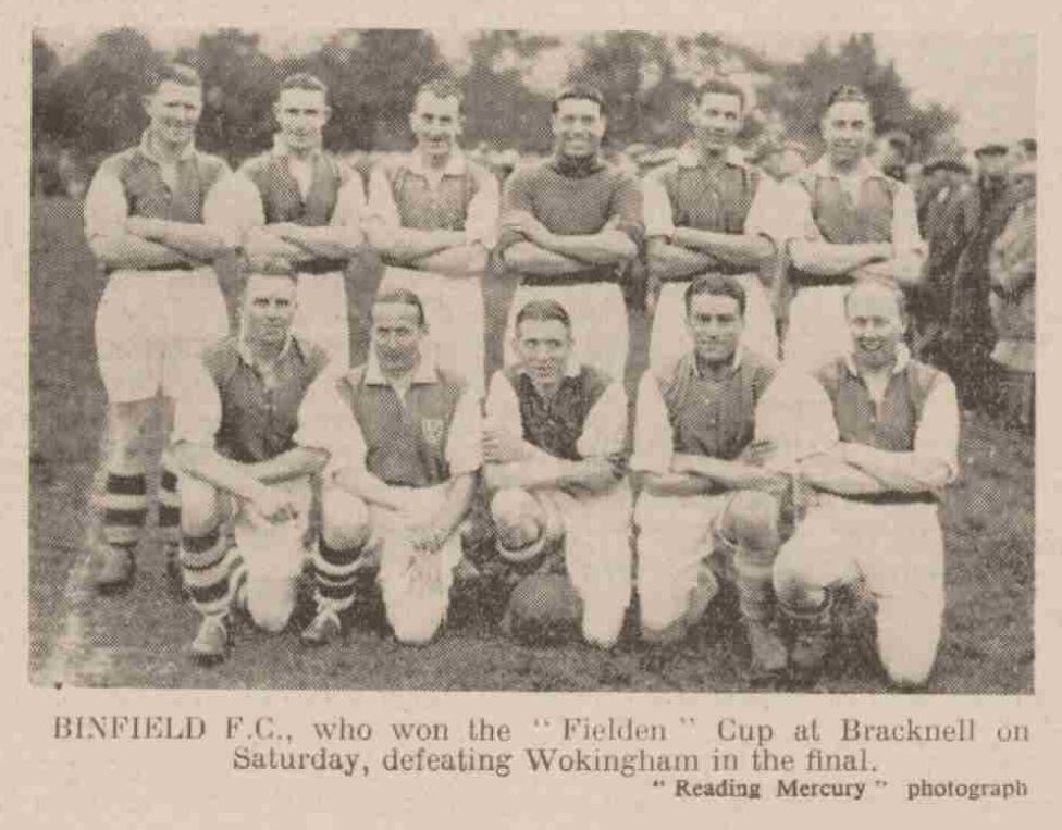 Binfield's 1939 Fielden Cup winning side. Photo via Steve Gabb.
