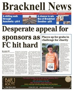 Bracknell News front page, 24th Feb.