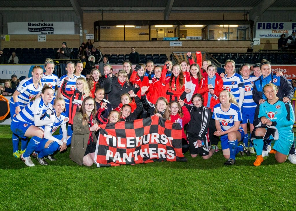 Reading Women and Tilehurst Panthers. Photo: Neil Graham.