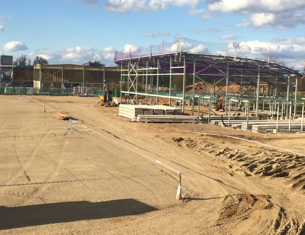 Slough Town's Arbour Park ground under construction. Photo: Neil Baker.