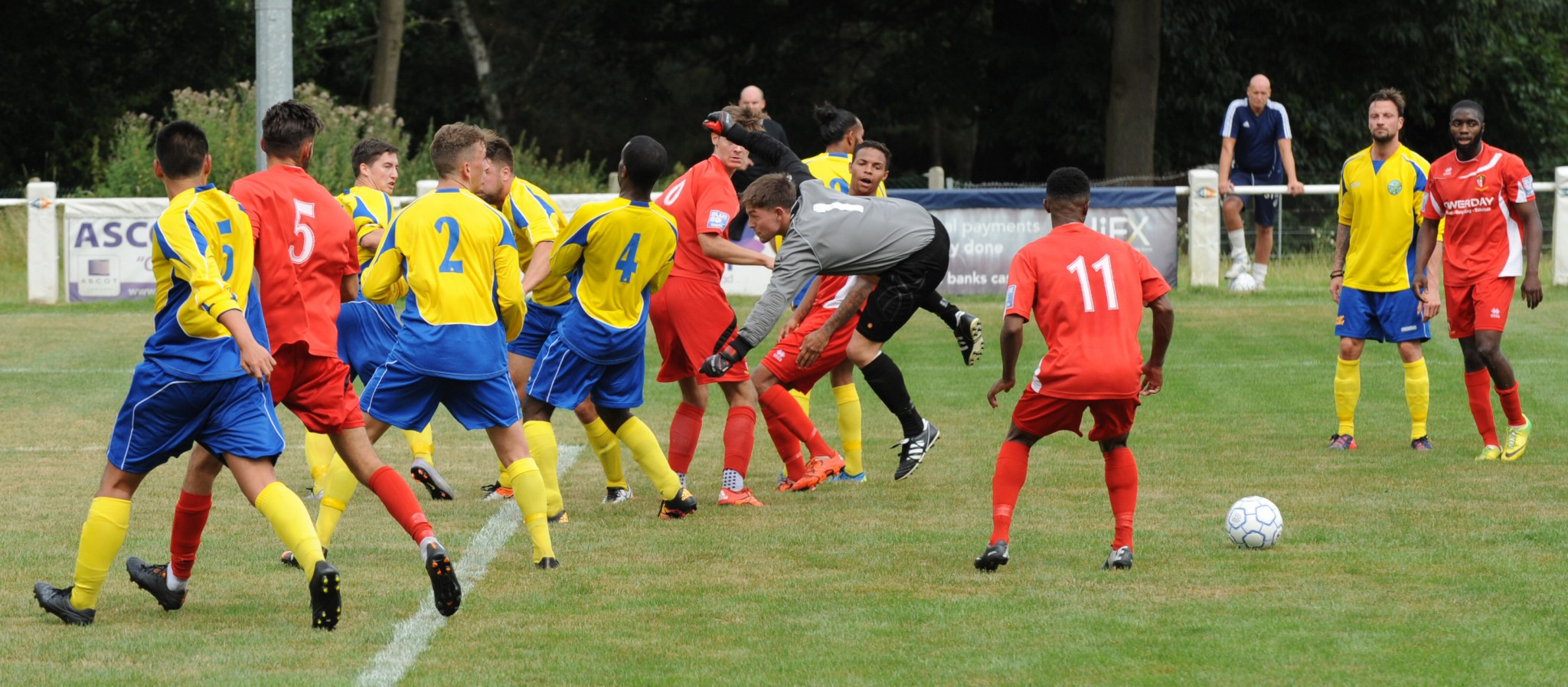 Images from Ascot United's friendly on Saturday