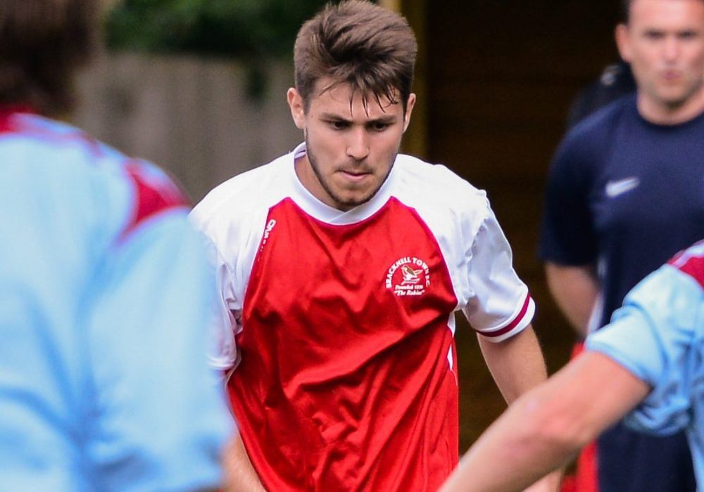 Jordan Rowland during his spell at Bracknell Town. Photo: Connor Sharod-Southam.
