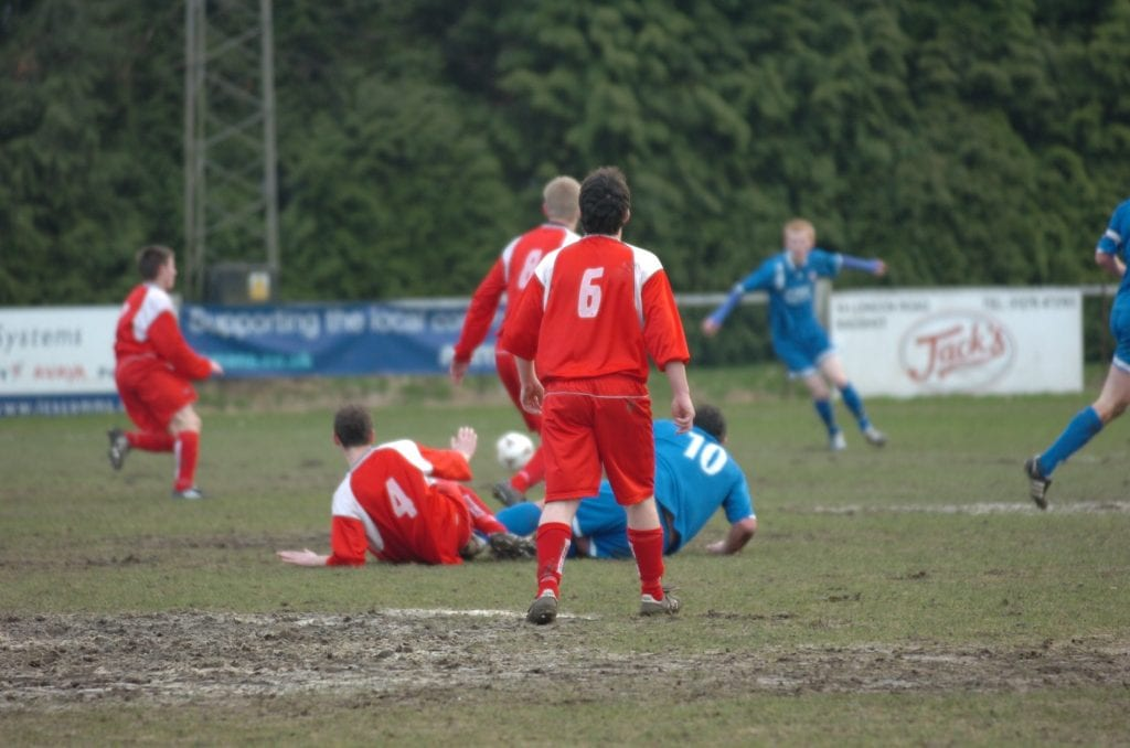 A muddy spectacle at Larges Lane.