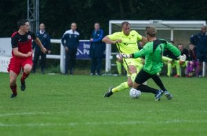 Luke Scope attacks for Binfield. Photo: Colin Byers.