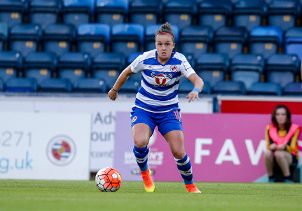 Lois Roche, Reading FC Women midfielder. Photo: Neil Graham.