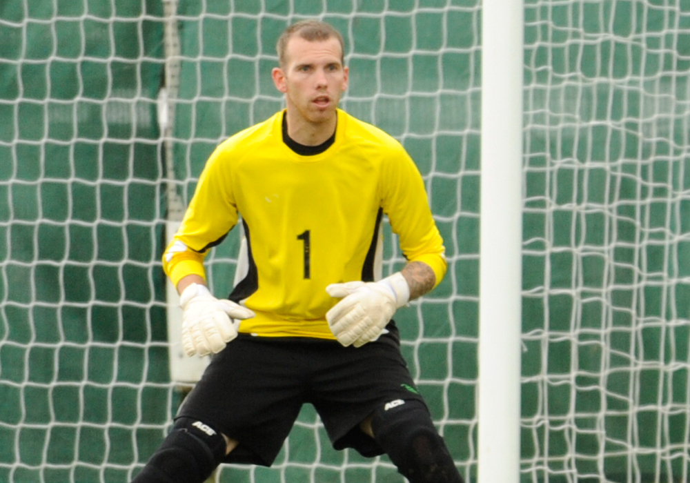 AFC Aldermaston goalkeeper Dan Smith. Photo: Mark Pugh.