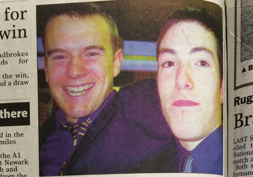 Bracknell Town FC goalkeepers Martin Hutt and Lee Cobby in 1999. Photo: Wokingham Times.