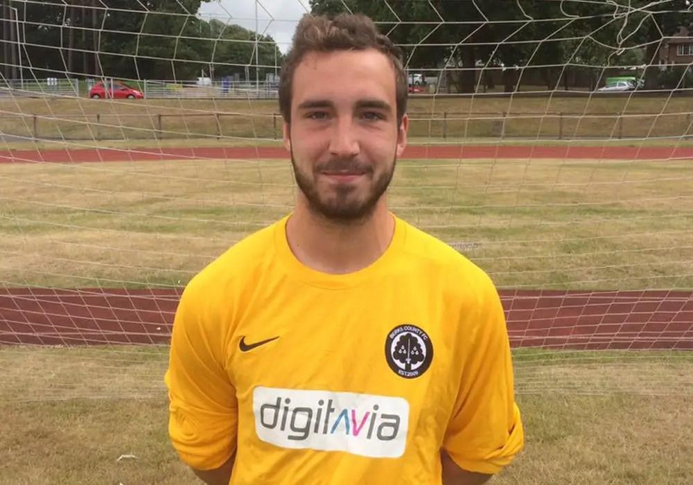 Berks County FC goalkeeper Lewis Grant.