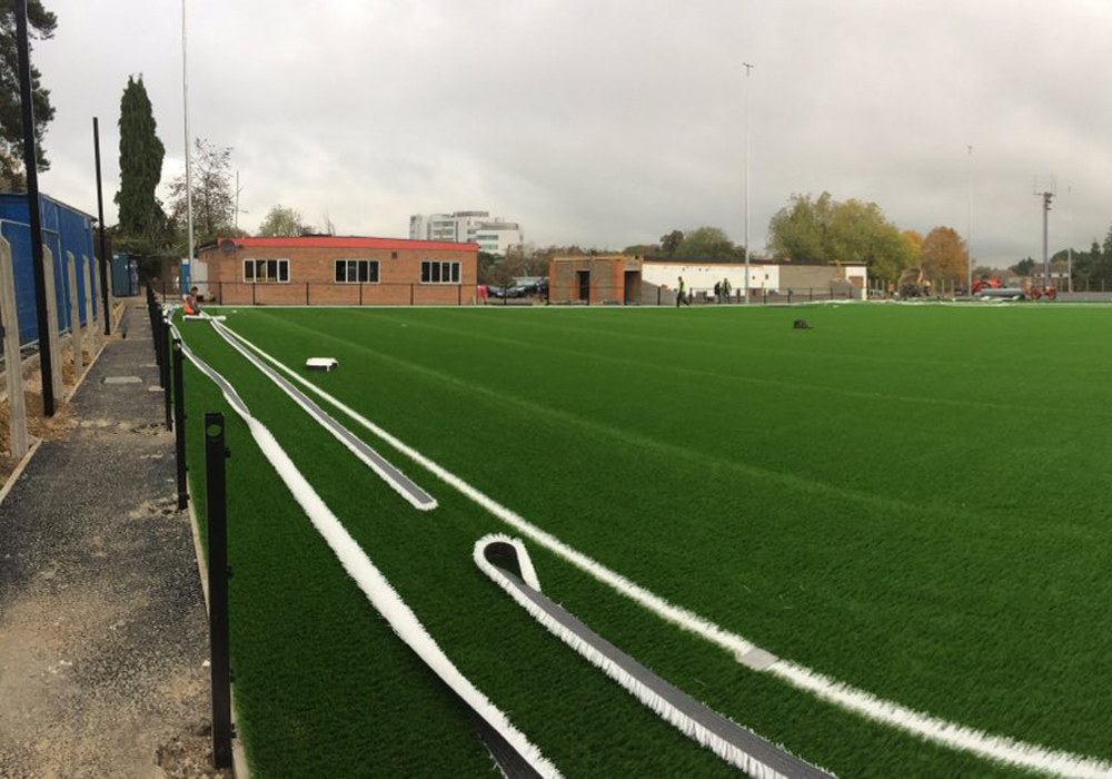 The 'carpet' is coming along at Bracknell Town's Larges Lane