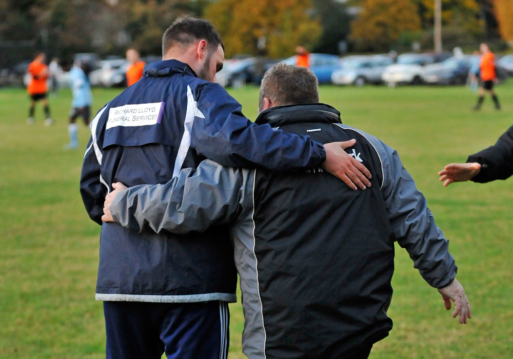 Michael Herbert and Clive McNelly post match. Photo: Mark Pugh.