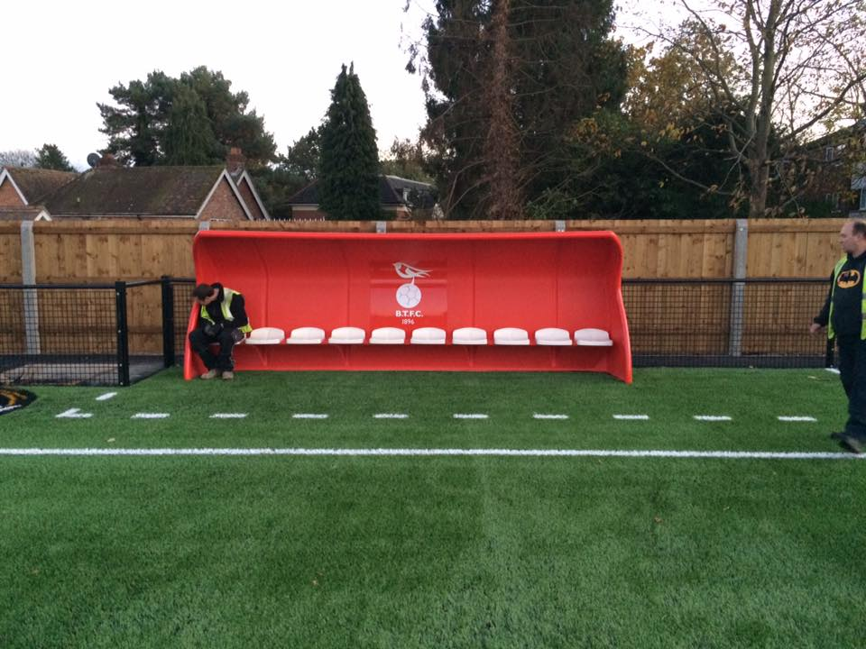 Goals and dugouts arrive at Bracknell Town's Larges Lane