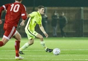 Binfield FC defender Lewis Leonetti. Photo: Colin Byers.