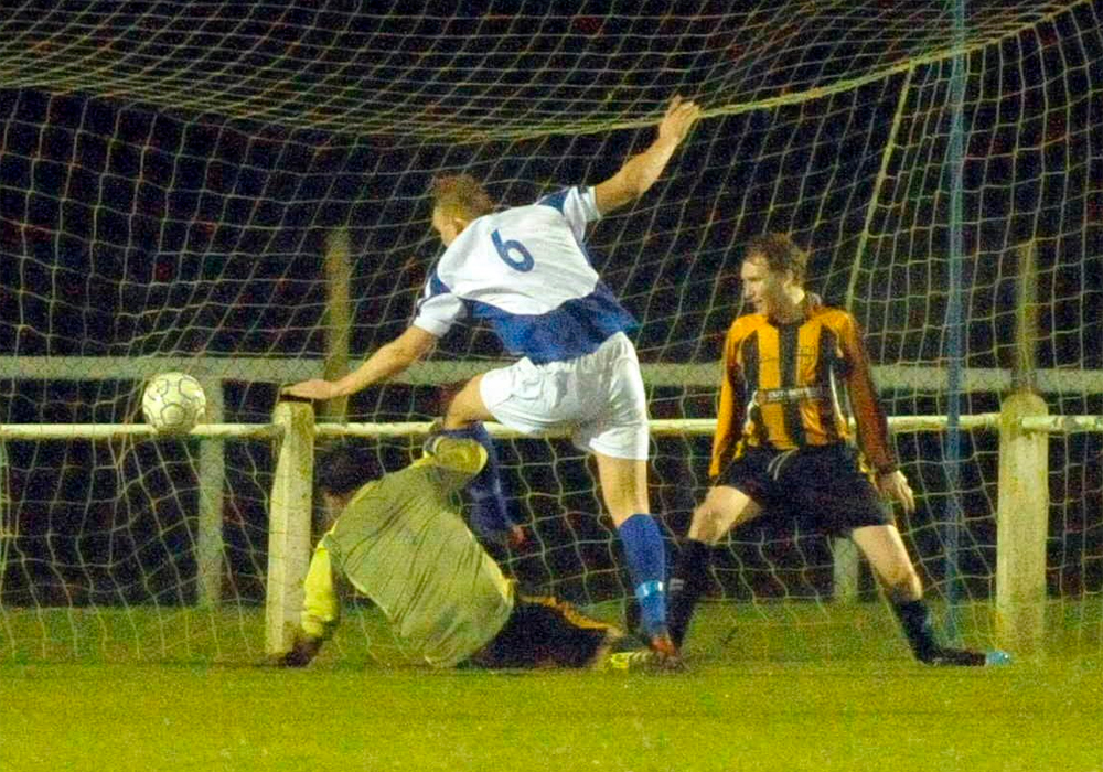 Ascot United goal against Rotherfield Park FC. Photo: Mark Pugh.