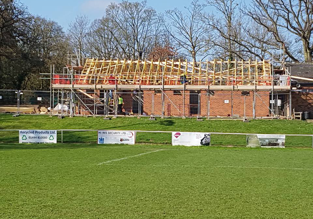 A closer view at Binfield FC. Photo: Glenn Duggleby.