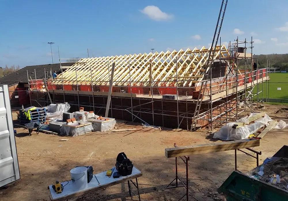 The impressive new changing room block at Binfield FC. Photo: Glenn Duggleby.