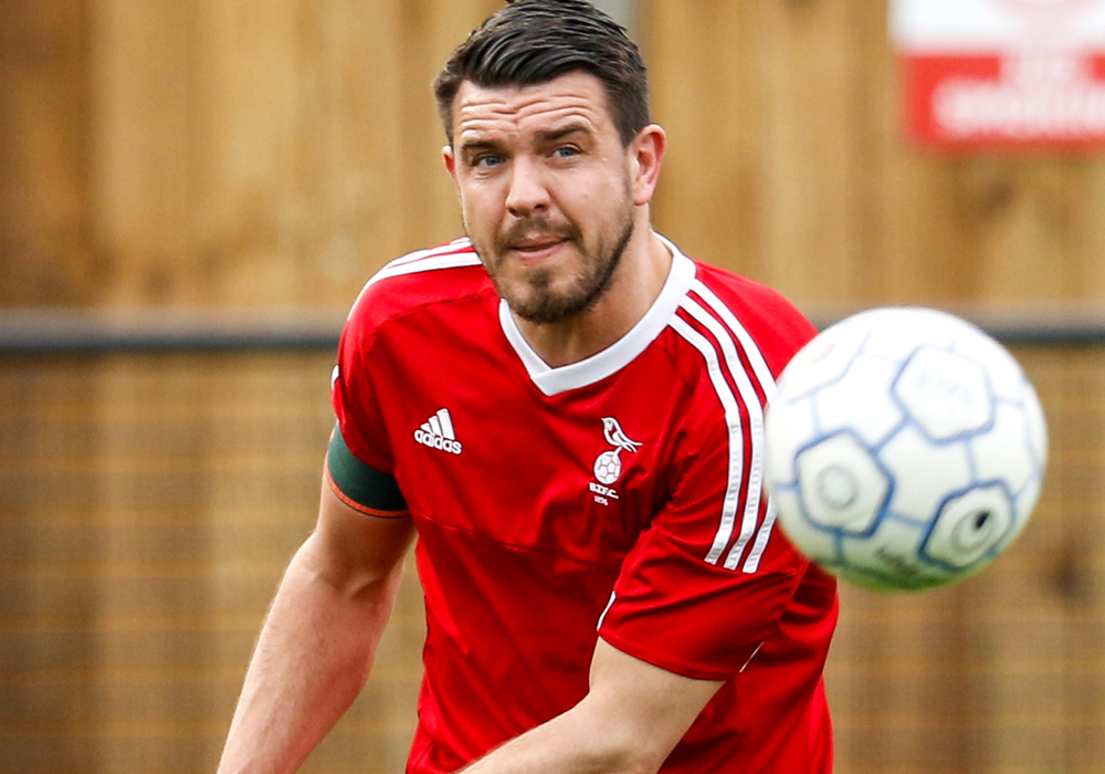 Bracknell Town FC captain Carl Davies. Photo: Neil Graham.