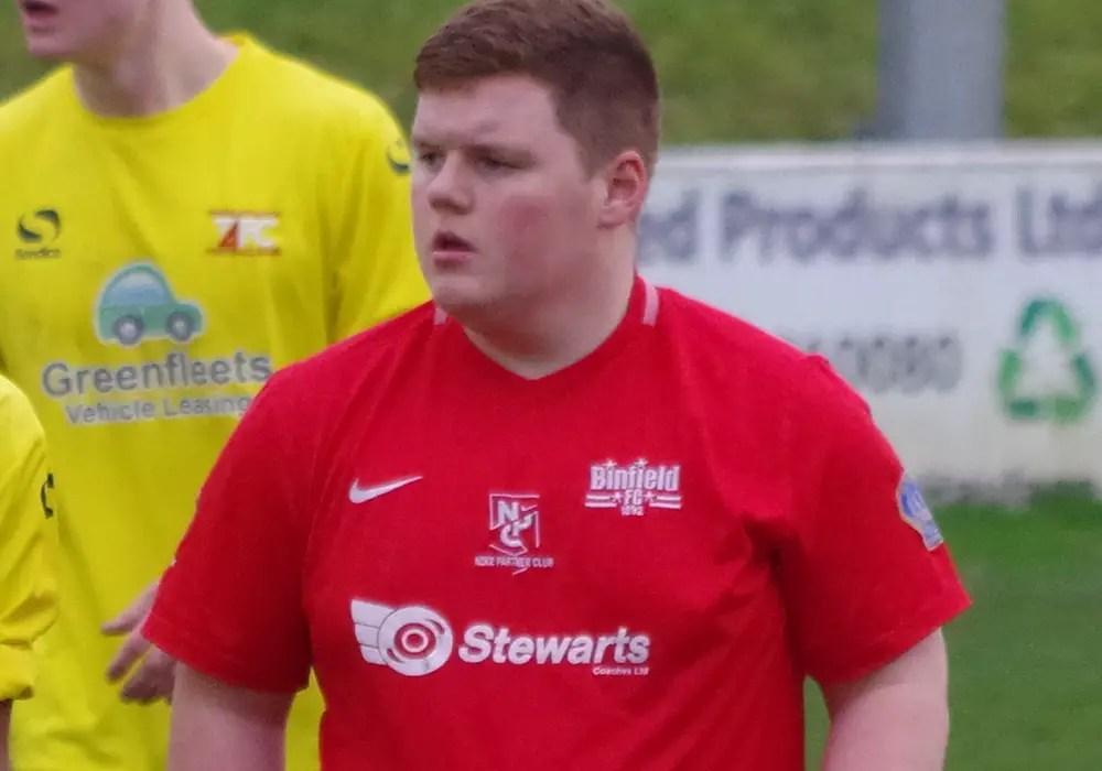 Binfield Youth Team captain Charlie Craske.
