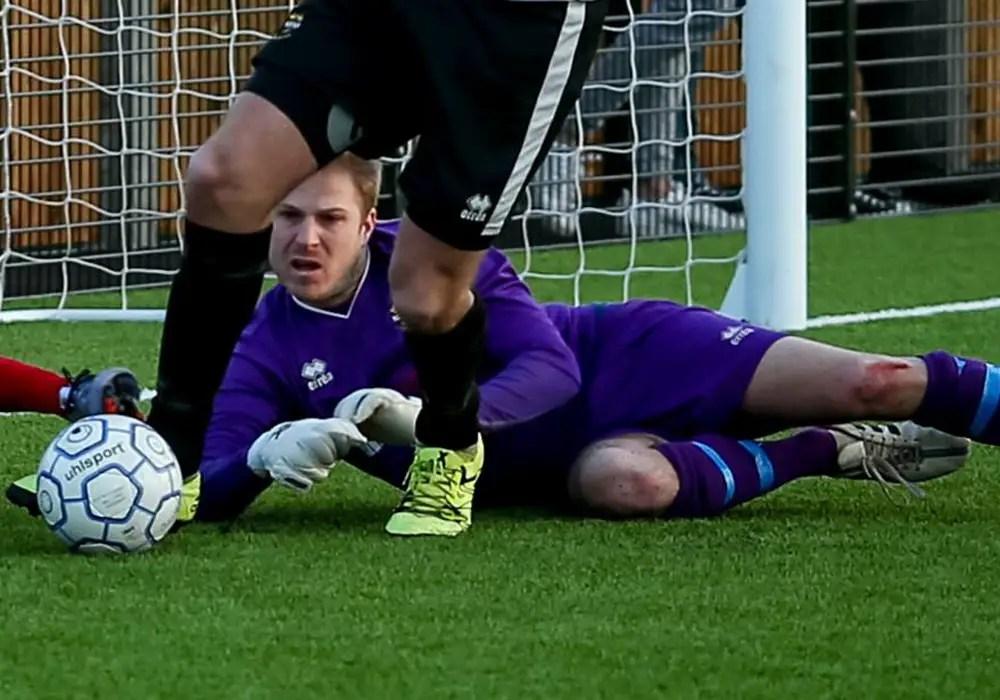 Richard Thomas the Lydney Town AFC goalkeeper. Photo: Neil Graham.
