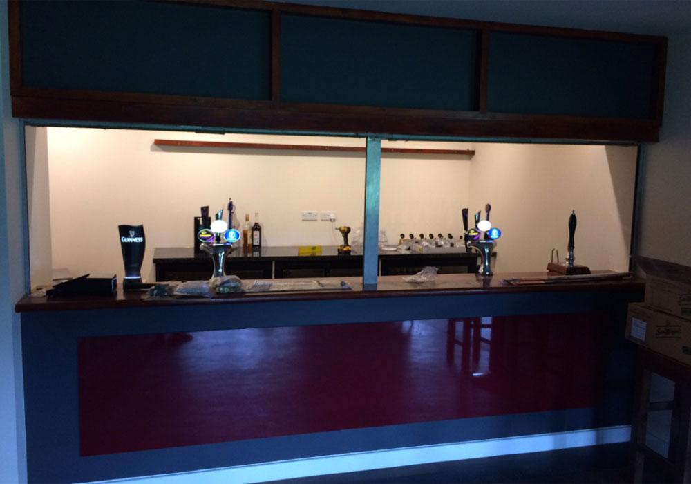 The new bar at Binfield's Hill Farm Lane looks superb!