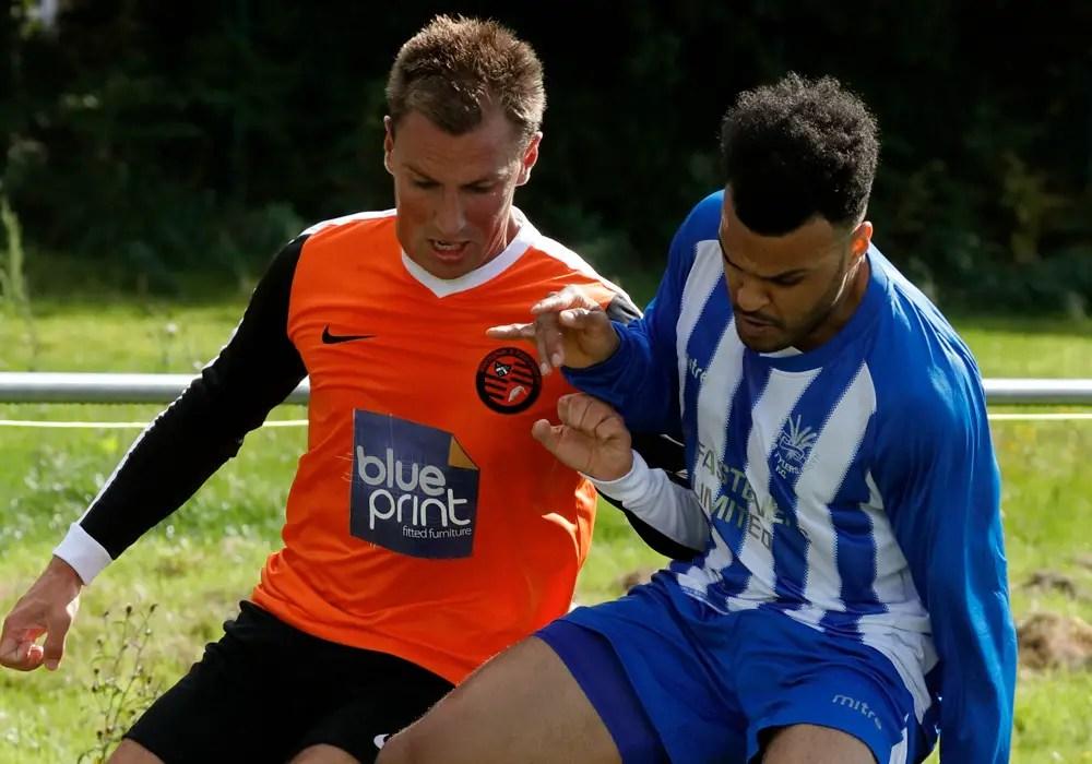 Wokingham & Emmbrook's Elliott Rushforth against Penn & Tylers Green. Photo: Graham Tabor.