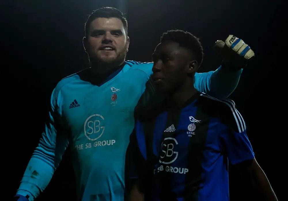 Chris Grace and Colin Mugoya. Photo: Neil Graham.