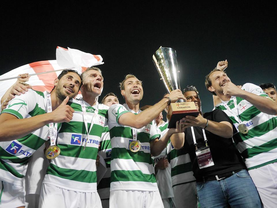 Abkhazia lift the CONIFA World Cup on home soil in 2016.