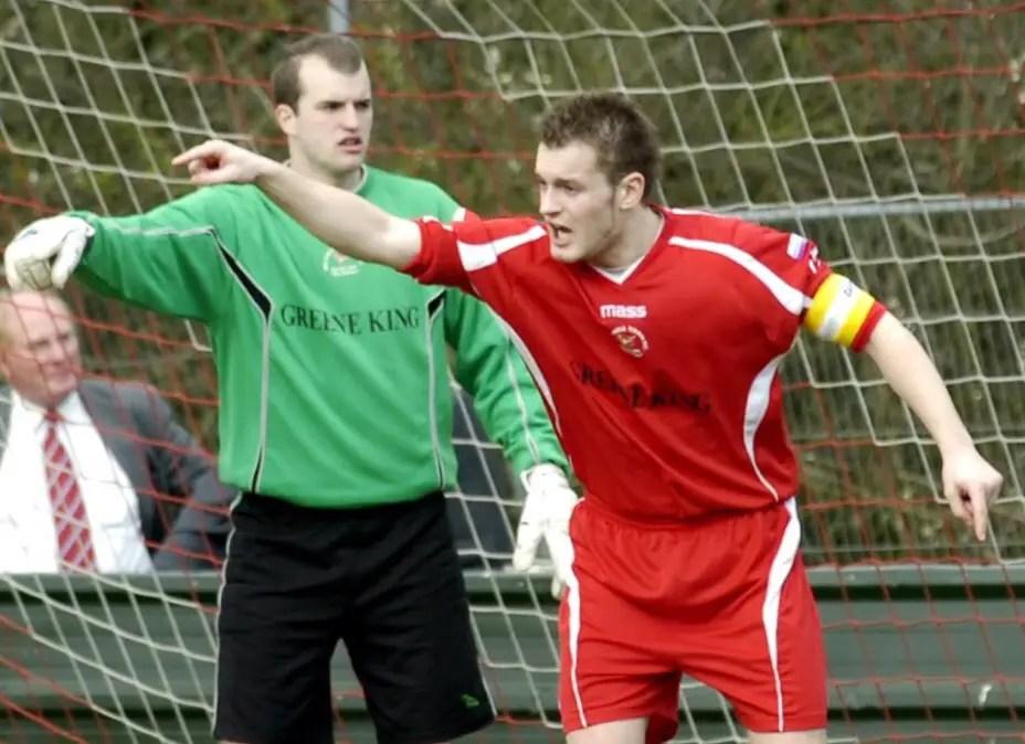 Damien Smith captaining Bracknell Town