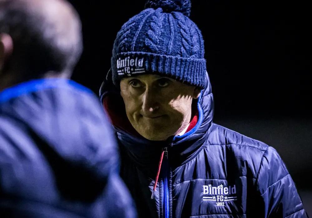 Binfield manager Roger Herridge. Photo: Neil Graham.