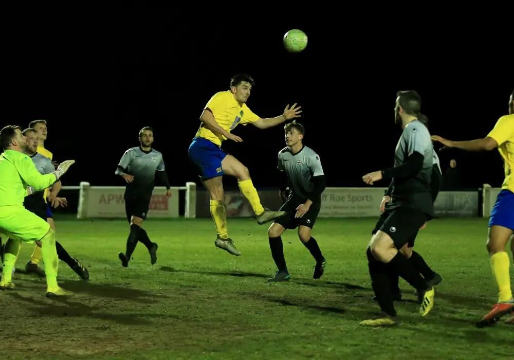 Callum Carlisle scores for Ascot United. Photo: Rob Mack/Shooting Stars.