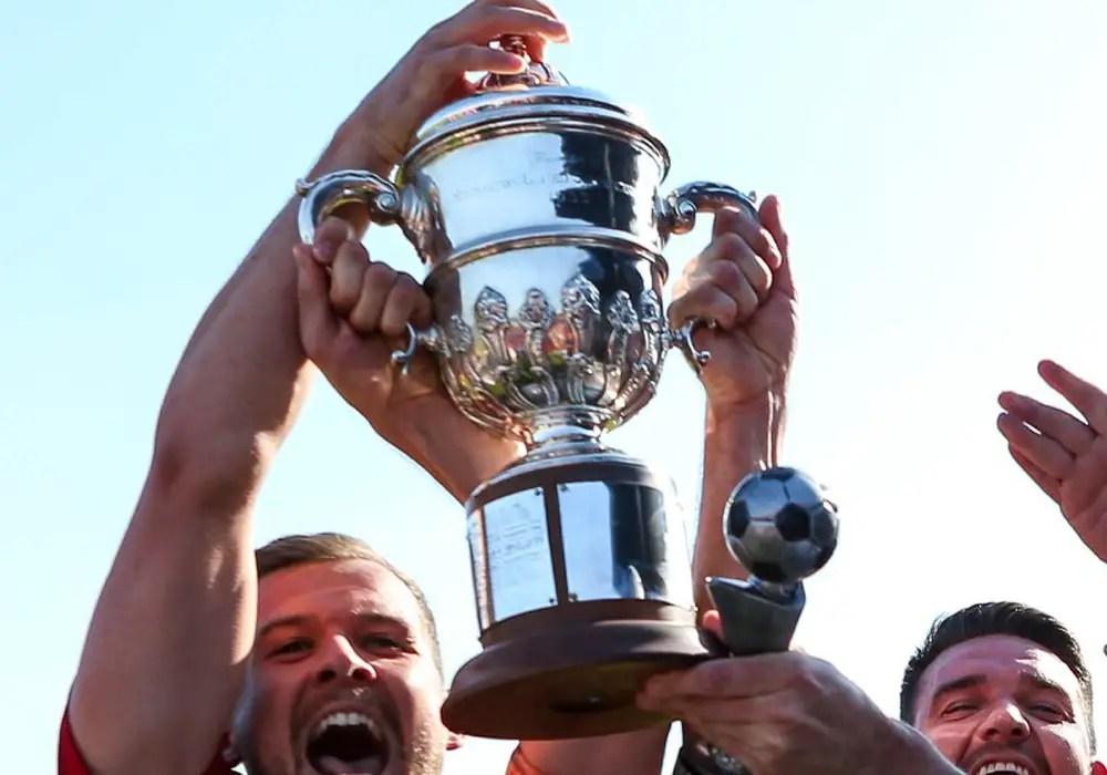 The Hellenic League Challenge Cup. Photo: Neil Graham.