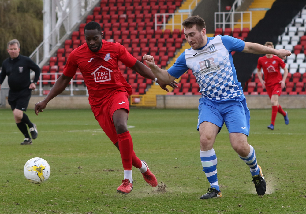 Eversley & California's Denis Nortey. Photo: Richard Milam.
