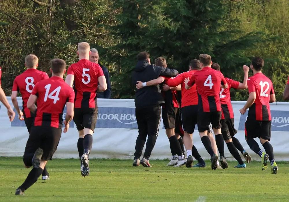 Sandhurst Town celebrate a winner. Photo: Simon Bryce.