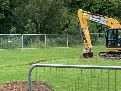Work well underway at Ascot United 3G installation